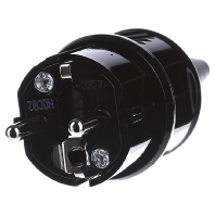 10754 - Schuko-Stecker 16A,2p+E,230V,IP44sw 10754