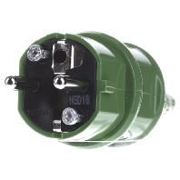 10841 - Schuko-Stecker 16A,2p+E,230V,gn 10841