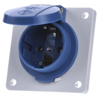 11031F - Schuko-Anbau-Steckdose 75x75 blau 11031F