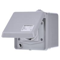 4970 - Schuko-Wanddose Cepex 16A,2p+E,230V,IP44 4970
