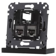 MEG4575-0012 - Tragplatte 2fach m. RJ45 Cat5e STP MEG4575-0012, Aktionspreis
