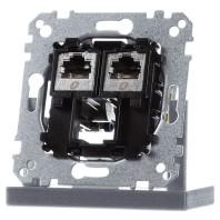 MEG4576-0022 - Tragplatte 2fach m. RJ45 Cat6A STP MEG4576-0022