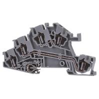 STI 2,5-PE/L/L - Zugfederklemme 0,08-4qmm B=5,2mm gr STI 2,5-PE/L/L