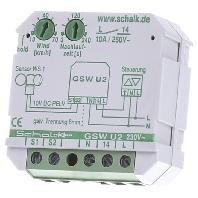 GSW U2 - Grenzwertschalter f.Wind 230VAC,10A UP GSW U2