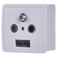 GAD 269 - Antennensteckdose 3f. Stichdose GAD 269