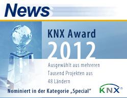 eibmarkt®.com GmbH ist nominiert für den KNX® AWARD 2012, weitere Informationen zum Projekt finden Sie auf www.eibmarkt.de