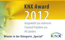 eibmarkt®.com GmbH gewinnt KNX® AWARD 2012, weitere Informationen zum Projekt finden Sie auf www.eibmarkt.de�