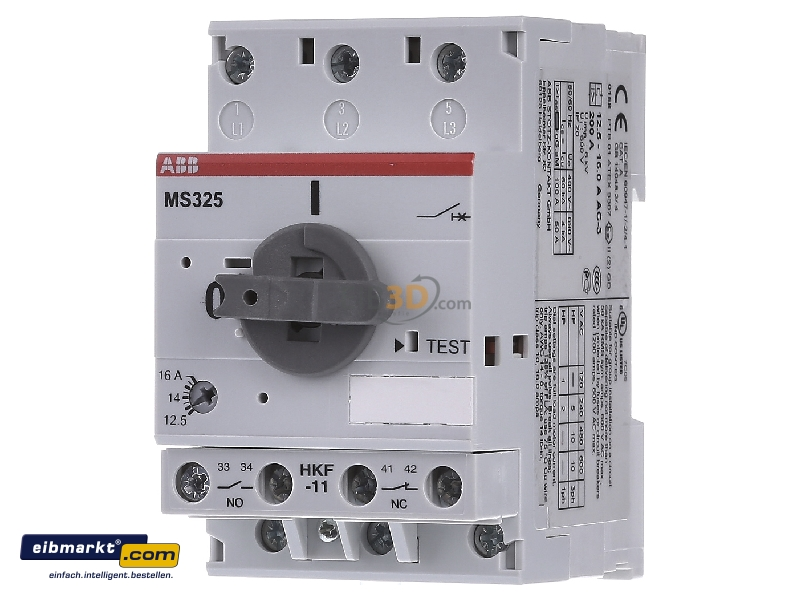 Motor protective circuit breaker 16a ms325 for Abb motor circuit protector