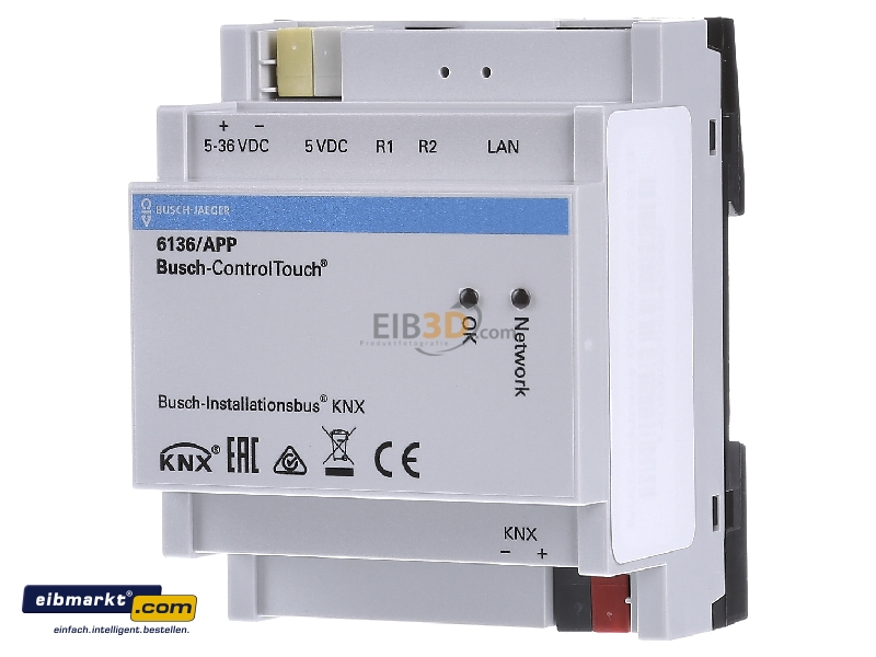 eib knx ethernet lan ip interface 6136 app. Black Bedroom Furniture Sets. Home Design Ideas