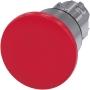 Image of 3SU1050-1BA20-0AA0 - Pilzdrucktaster 22mm, rund, rot 3SU1050-1BA20-0AA0