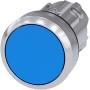 Image of 3SU1050-0AB50-0AA0 - Drucktaster 22mm, rund, blau 3SU1050-0AB50-0AA0