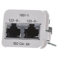 Image of 0-1711801-1 - Doppel-Einsatz Kat.6A pws 2x10/100BT 0-1711801-1
