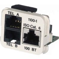 Image of 0-1711100-5 - Adaptereinsatz Cat.5e rws 2xTelefon, 1xRJ45 0-1711100-5