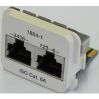 Image of 0-1711804-1 - Doppel-Einsatz Kat.6A pws 1x10/100BT u. ISDN 0-1711804-1