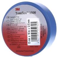 3M Temflex 1500 Isolatietape (l x b) 10 m x 15 mm Blauw Inhoud: 1 rollen