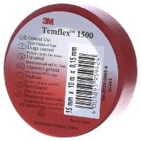 3M Temflex 1500 Isolatietape (l x b) 10 m x 15 mm Rood Inhoud: 1 rollen