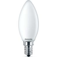 Philips Classic LEDcandle E14 B35 4.3W 827 Mat | Vervangt 40W