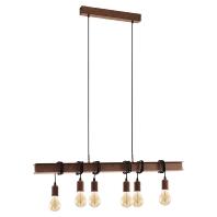 Eglo Townshend Hanglamp 101 cm Roestbruin