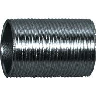 SN-E-V 20 vz. Zn-Ni (50 Stück) - Stahlrohr-Gewindenippel f.StaroGew.ESV SN-E-V 20 vz. Zn-Ni