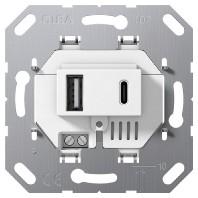 234900 USB power supply 2fold White 234900