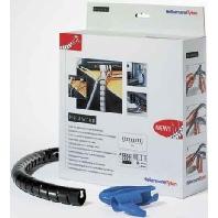 HWPP16L2 BK+WZ(VE2m) - Spiralschlauch +Werkzeug schwarz HWPP16L2 BK+WZ (Inhalt: 2m)