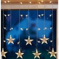 LED-raamdecoratie sterrengordijn
