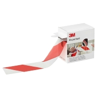596615 (Rolle 100m) - Warning tape Red/white with Stripe 596615 (Rolle 100m)