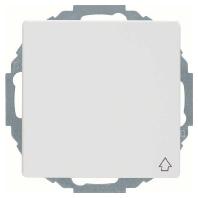 Berker Q.1 stopcontact met randaarde, klapdeksel en kinderbeveiliging 45° enkel polarwit