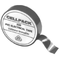 Cellpack tape 19mm x 20m zwart d0 19mm