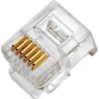 18 3004 (100 Stück) - Modular Stecker RJ12 6P/6C Flex. 18 3004