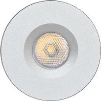 P21031402 alu-mt - P-LED Lichtpunkt IP20 12V 3W 3000K rd P21031402 alu-mt