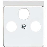 206032 - Zentralplatte SAT 3-Loch braun 206032