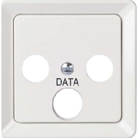206079 - Zentralplatte SAT 3-Loch rot 206079