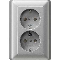 Gira wcd 2v ra inb aluminium ral