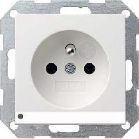 Gira stopcontact penaarde Cebec en kinderbeveiliging wit mat LED verlichting