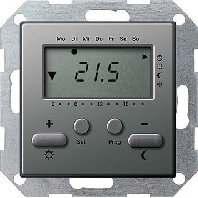 Gira klokthermostaat 230V edelstaal E22