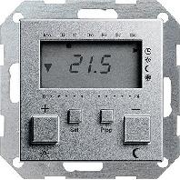 Gira klokthermostaat 230V aluminium 55