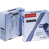 Dispenserbox HIS-1 Ø voor-na krimpen: 19.1 mm-9.5 mm Krimpverhouding 2:1 5 m Zwart