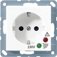 Jung AS500 wandcontactdoos wit met beschermingscontact 16 A 250V