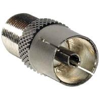 FI 04 (100 Stück) - Metall-Adapter F-Buchse/IEC-Buchse FI 04