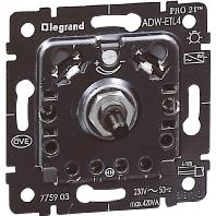 775903 - Dimmer-Einsatz mit Druck-Wechsels. 775903