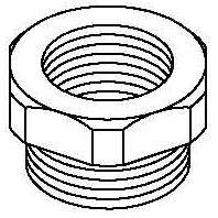 107 R M25-20 PA Adapter ring M20-M25 plastic 107 R M25-20 PA