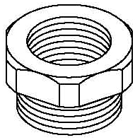 107 R M32-25 PA Adapter ring M25-M32 plastic 107 R M32-25 PA