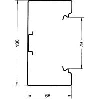 Image of BKS 701301 verz (2 Meter) - signo BS Kanalunterteil 70/130 verz. BKS 701301 verz