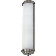 Onopvallende spiegellamp BUDDY, nikkel, 34,2 cm