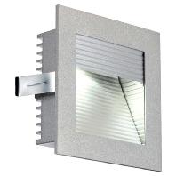 SLV LED-inbouwlamp Frame Curve 111290 LED 1 W Zilver Aluminium