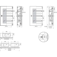 NSYDLM48P - Automatenabdeckung 3-reih.48Md 600x400 NSYDLM48P