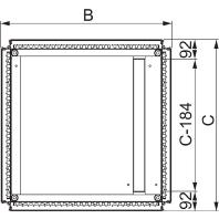 NSYEC641 - Kabeleinführungsplatte 2-Teilig 600x400 NSYEC641