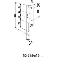 TÖ 618-0 E - Türöffner DIN rechts/links grau lackiert TÖ 618-0 E