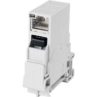 J80023A0003 - STX Tragschienen-Verbinder RJ45 Kupplung Cat.6 J80023A0003